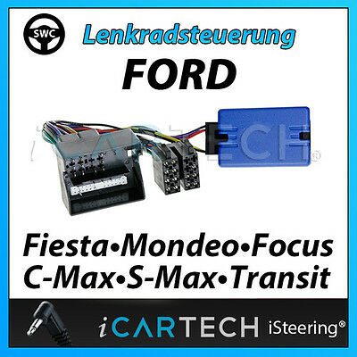 Steering Wheel Remote Control Adapter For Ford Fiesta Mondeo Focus C-MAX S-MAX