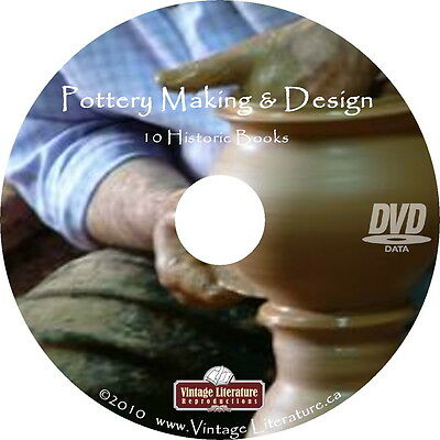 Art of Making Pottery and Ceramics  { 10 Vintage How To Books } on DVD
