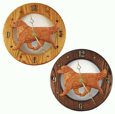 Golden Retriever Wood Clock Wall Plaque Dark