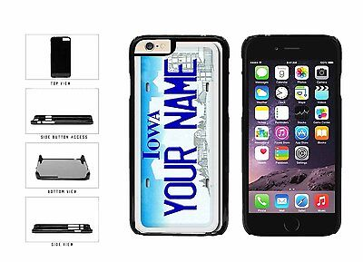 Personalized Custom Iowa License Plate Plastic Case For iPhone 6 Plus (5.5 In)
