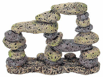 Rock Pebble Rubble Formation Aquarium Decoration Fish Tank Cave Ornament