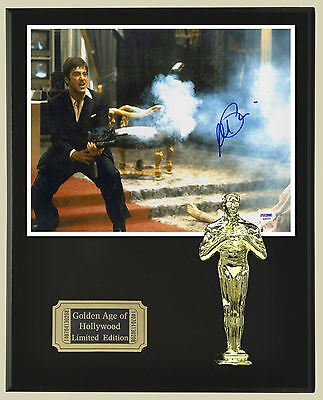 Al Pacino Scarface Oscar Statue & Reprinted Autograph 8x10 Photo USA Ships Free