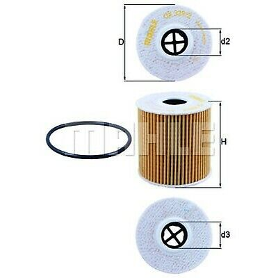 Mahle Oil Filter OX339/2D - Fits Citroen, Ford, Peugeot, Volvo