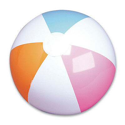 """NEW INFLATABLE PASTEL SHADES BEACH BALL - SPORTS BLOW UP NOVELTY TOY 13"""""""