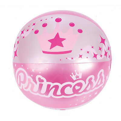 """NEW INFLATABLE PRINCESS BEACH BALL - PINK BLOW UP NOVELTY TOY 16"""""""