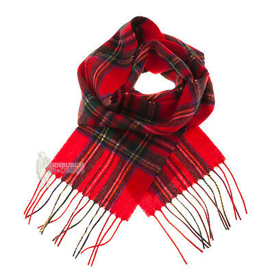 Edinburgh - 100% Lambswool Tartan Mini Scarf - Stewart Royal