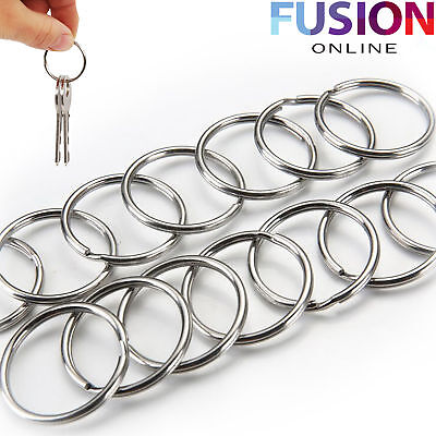 Steel Keyring Split Key Rings 25Mm Nickel Hoop Ring Nickel Plated Steel Loop
