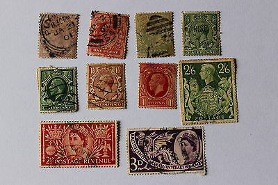 Collection of antique postal stamps, Great Britain, India
