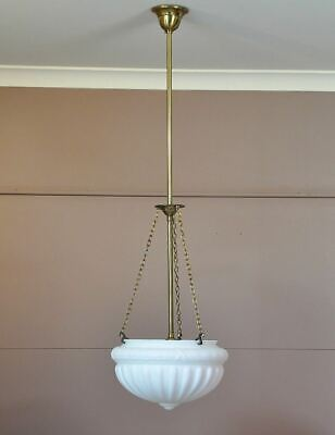 """REIMS"" THREE CHAIN+ROD PENDANT LIGHT-FRENCH PROVINCIAL-6 FINISHES AVAIL-vintage"