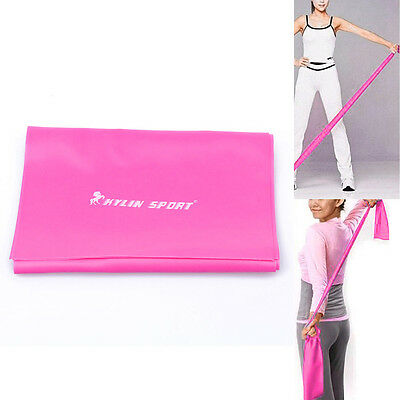 1.5m Yoga Pilates Stretch Resistance Workout Band Washable New
