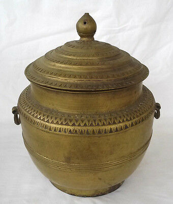 Early 19th c.  Bronze Persian Islamic Bronze Double Handled Covered Jar/Pot