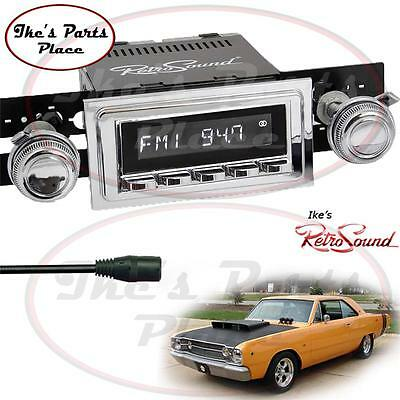 RetroSound 67-69 Dodge Dart RC900c-2 Radio/3.5mm AUX-In for ipod/Push Button