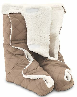 Leg Foot Warmers Fleece Therapeutic Comfort Protect Warms Circulation Washable