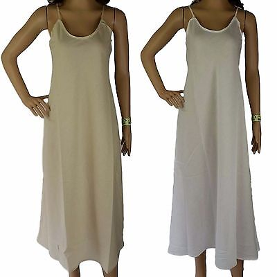 FULL SLIP 100% COTTON Size 12 14 16 18 20 NEW Long Petticoat Layering Dress