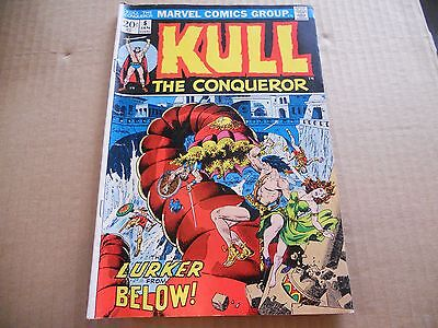 Vintage Kull The Conquerer Comic Book No. 6 Jan The Lurker From Below Good+