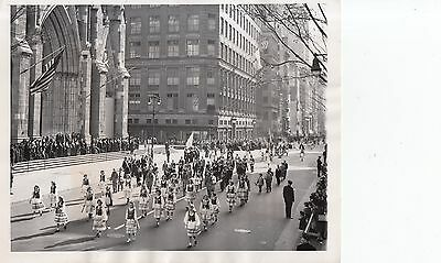 Vintage 1980 Photo of the Polish American parade passing St Patrick's cathedral