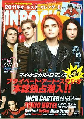 INROCK Japan Music Magazine 1/2011 Bon Jovi Taylor Swift My Chemical Romance