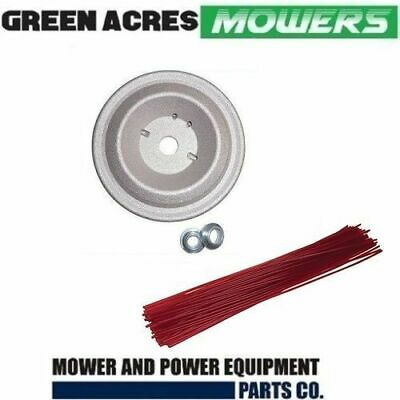 REPLACMENT ALLOY HEAD & 50 PRE CUT 2.7mm LINE FOR BRUSHCUTTERS TRIMMER WHIPPER S