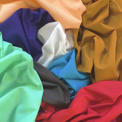 "Cotton Polyester Broadcloth Fabric 60"" inch Apparel Solid PolyCotton Per Yard"