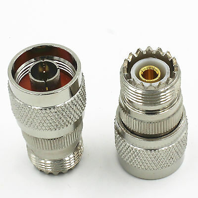 1* New N Type Male Plug to UHF  PL259 Female SO-239 Adapter Connector
