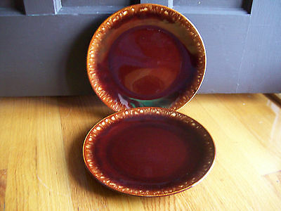 Taylor Smith Taylor Sierra brown drip  2 dinner plates vintage ironstone