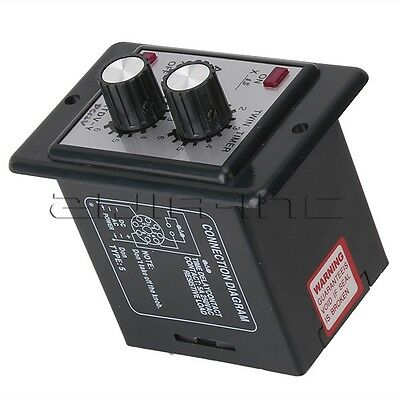 Adjustable Time Relay 0-6S Timer Cycle Delay DC 12V Control ON/OFF for Machine