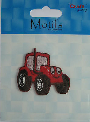 The Craft Factory Applique  Motif Iron on/Sew On - Tractor