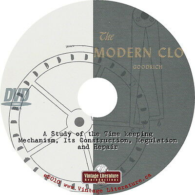 The Modern Clock { 1905 Vintage Repair Manual } on DVD