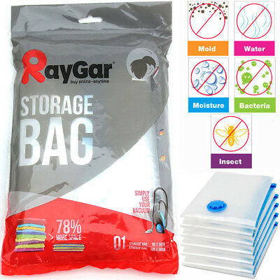 Large Reusable Vacuum Compressed Bags Space Saving Storage Vac Seal Clothes Bag