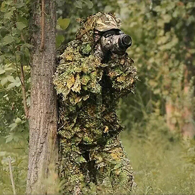 Sale Birding Tactical Airsoft Ghillie Suit 3D Bionic Camo Leaf Hunting Clothes