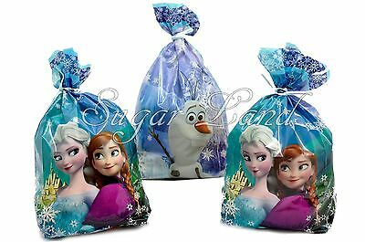 Disney Frozen Treat Bags Favors Cellophane Elsa Birthday Party Supplies 16 PACK