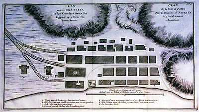 Antique map, Plan van de stad Paita