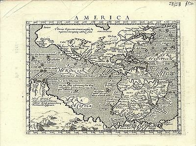 Antique map, America