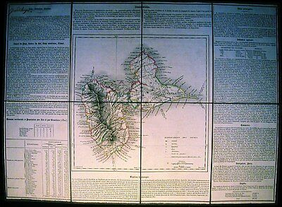 Antique map, Guadaloupe