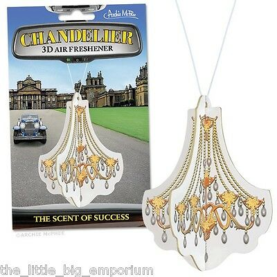 Chandelier 3D Air Freshener Comes In Two Pieces That Fit Together