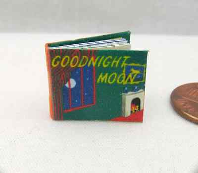 GOODNIGHT MOON Color Illustrated Dollhouse Miniature Book 1:12 Scale Readable