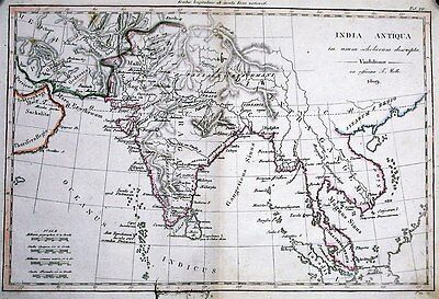 Antique map, India Antiqua