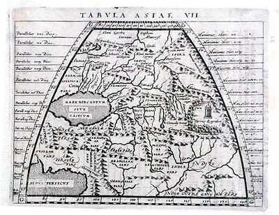 Antique map, Tabula Asiae VII