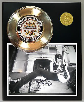 Joan Jett - 24k Gold Record & Reprinted Autographed Photo - USA Ships Free