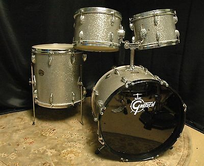 Gretsch Vintage USA 1970s Silver Sparkle Drum Set - 12, 12, 16, 20