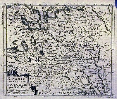 Antique map, Russie Blanche ou Moscovie