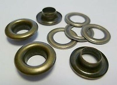 500 Pieces EYELETS 6,0 mm rust-free ANTIQUE RIVETS,f. SPINDLE PRESS,EYELET PRESS