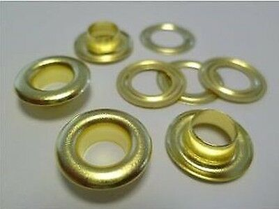 1000 Pieces EYELETS 4,0 mm rust-free (GOLD) RIVETS, f. SPINDLE PRESS, PRESS uvm