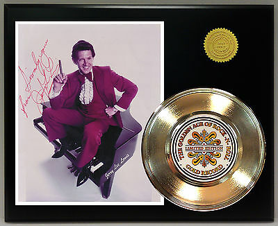 Jerry Lee Lewis - 24k Gold Record & Reprinted Autographed Photo - USA Ships Free