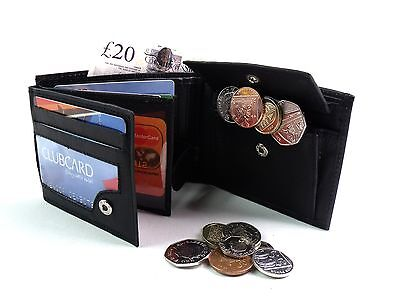Mens New Soft Real Leather Wallet Leather Credit Cartd Holder Coin Pouch Purse