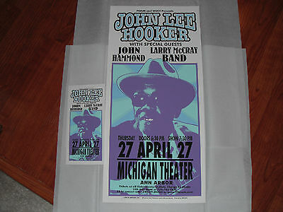 John Lee Hooker Screenprint Concert Poster & Handbill Mark Arminski Mint