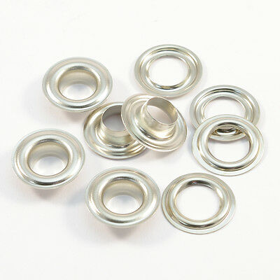 50 Eyelets 14mm DIN 7332,Brass silver,rust-free,for Curtains,Leather,