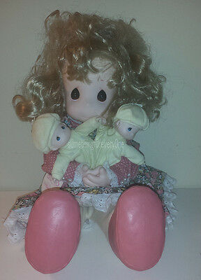 """PRECIOUS MOMENTS Susan & Twins Mommy I Love You Series 5th ED. DOLL 17"""" PLUSH"""