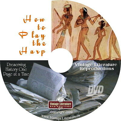 How to Play The Harp { Vintage Book } on DVD