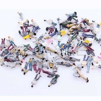 100 Miniature Model Z Gauge 1:200 Scale People for DIY Figure Building Layout